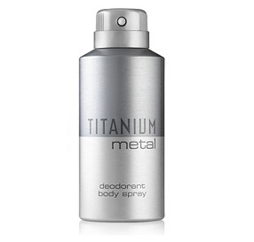 Titanium Metal Deodorant Body Spray